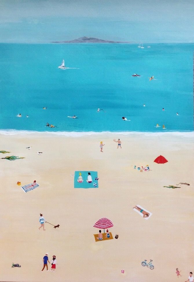 #newzealand#summer#beach#acrylic#painting