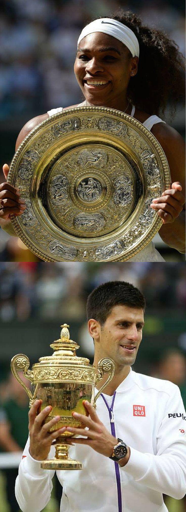 Congratulations to the 2015 Wimbledon Singles Champions, Serena Williams and Novak Djokovic!