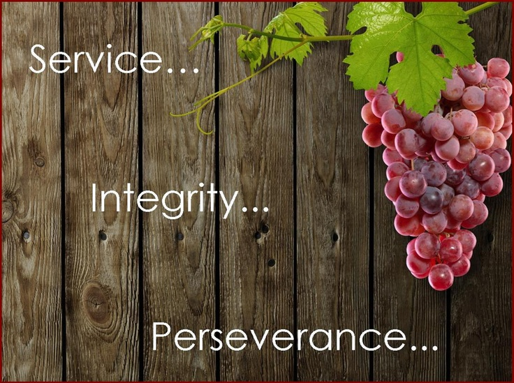 Service... Integrity... Perseverance...