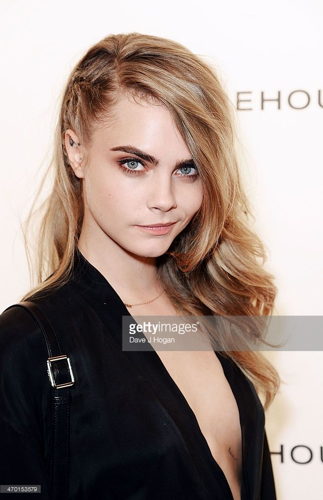 Cara Delevingne attends the Elle Style Awards 2014 at one Embankment on February 18, 2014 in London, England.