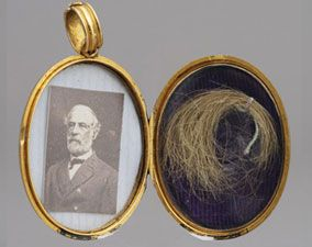 Arlington House - The Robert E. Lee Memorial  Locket of Gen. Lee's hair taken on the day of his passing