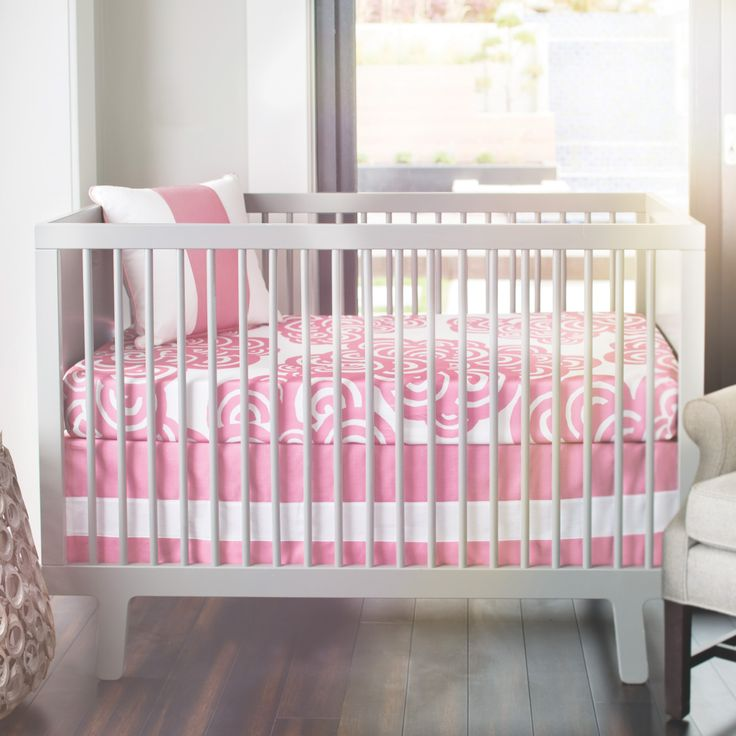 Oilo Bloom Petal Pink Crib Sheet @LaylaGrayce