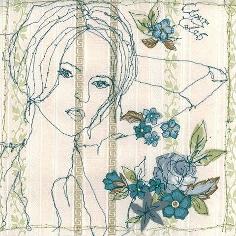Claire Cole stitched wallpaper girl9