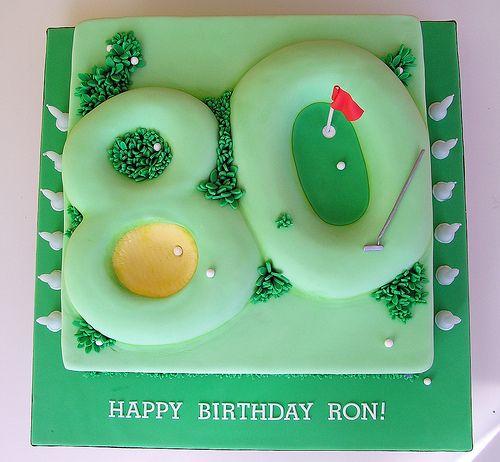 80th birthday golf cake
