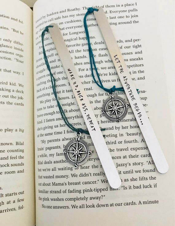 Custom Bookmark Let The Adventure Begin Traveler Gift For Reader Senior Wander Retirement Graduation Her Small Business