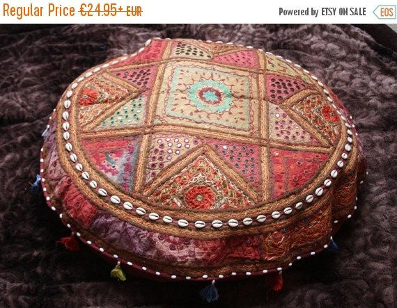 ON SALE large seat cushion patchwork sitting bag by TheShantiHome