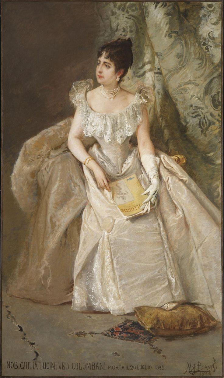 Mosè Bianchi, Ritratto di Giulia Lucini Colombani, 1894, olio su tela, 201 x 120,5 cm, Fondazione IRCCS Ca' Granda Ospedale Maggiore Policlinico, Milano
