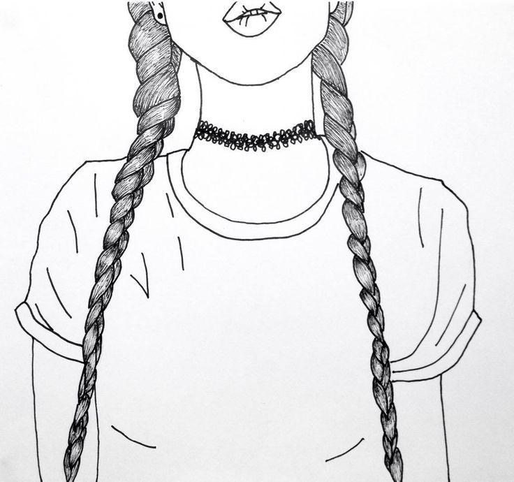 #pen #art #girl #brades