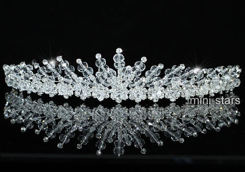 Bridal Wedding Sparkling Crystal Handmade Tiara T1406   eBay