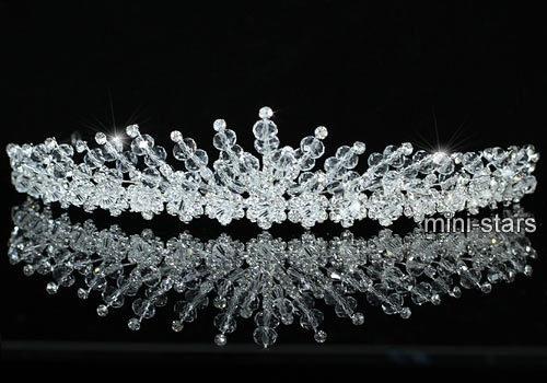 Bridal Wedding Sparkling Crystal Handmade Tiara T1406 | eBay
