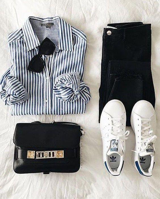 Stan Smiths | street style | stripes | sneaker fashion | Adidas