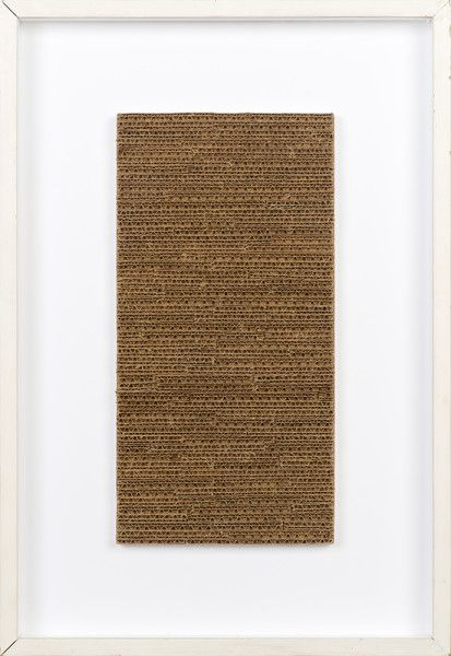 Jan Schoonhoven R70-39, 1970 Cardboard and painted artist's frame 17 1/4 x 8 3/4 inches via David Zwirner Gallery, NY