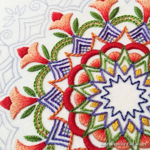 Kaleidoscope Embroidery Design in Silk                                                                                                                                                                                 More