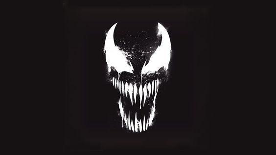 Venom Marvel Artistic Logo with Dark Background