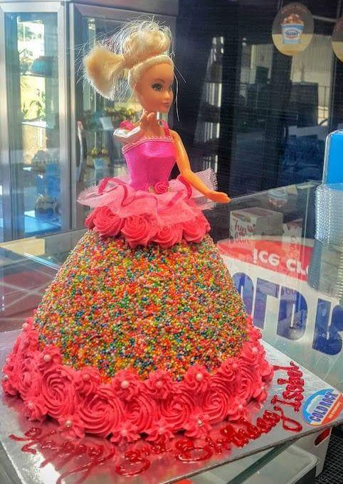 Disney princess themed ice cream cake made by Cold Rock Aspley, Deception Bay & Everton Park