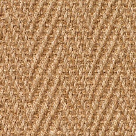 £21.50 Jute Carpet   Herringbone Natural   Naked Flooring