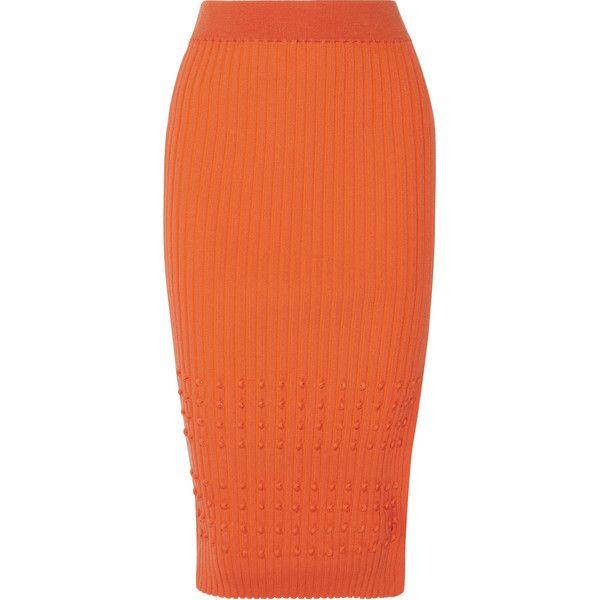 Orange Pencil Skirt