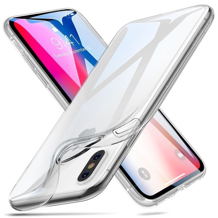 Transparent Case for iPhone X iPhone 10 ESR Slim Clear Soft TPU Back Cover #ESR