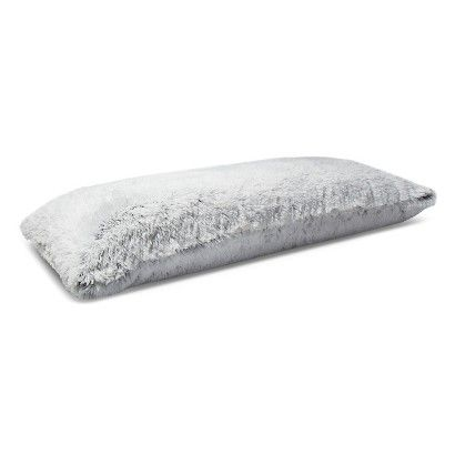 Body Pillow Cover High Pile Flat Standard Gray - Room Essentials™