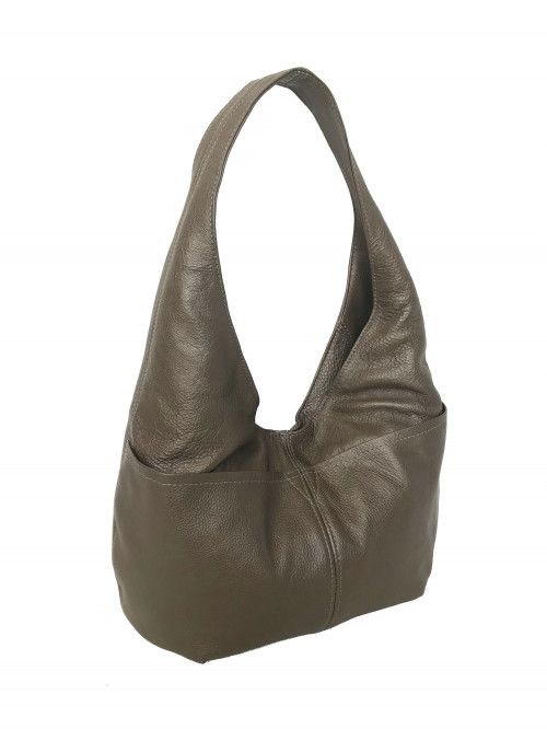 f406623ec2 Slouchy Leather Hobo Bag w  Pockets