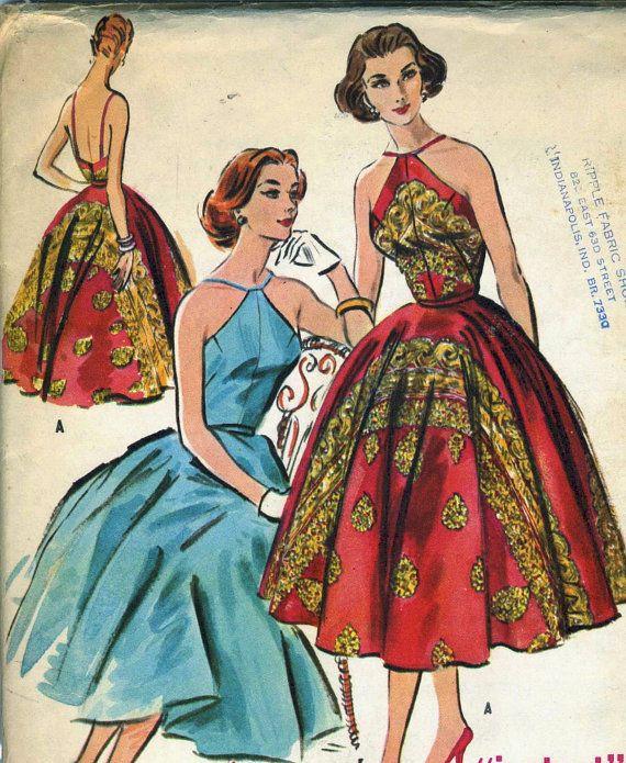 Vintage 50s McCalls 3944 UNCUT Misses Evening by RomasMaison, $67.00