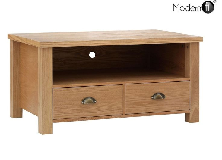 new oak tv stand with 2 drawers for up to 46 tv oak corner tv