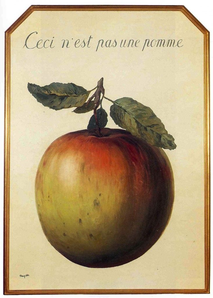 RENE MAGRITTE 1964 Ceci n'est pas une pomme.... One of my favorites minus the frame
