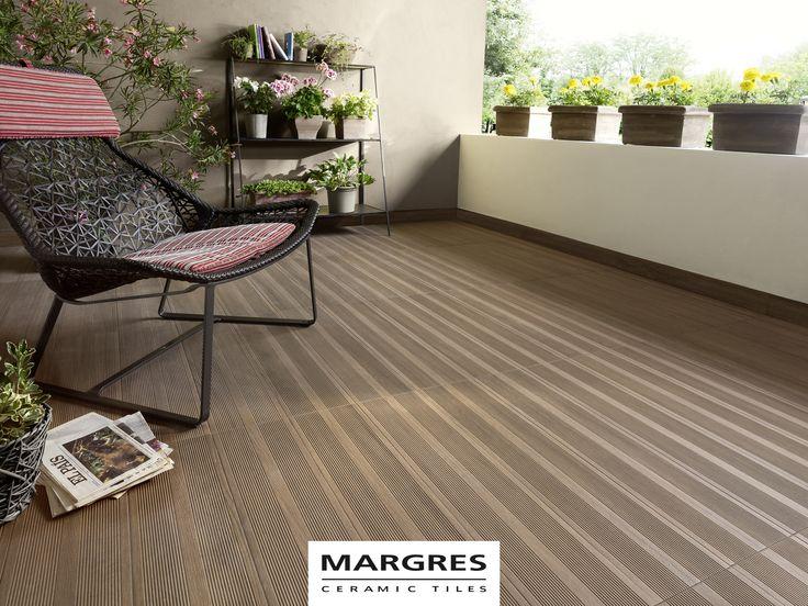 Ceramic Tiles Deck by Margres Natural Brown Deck #ceramictiles