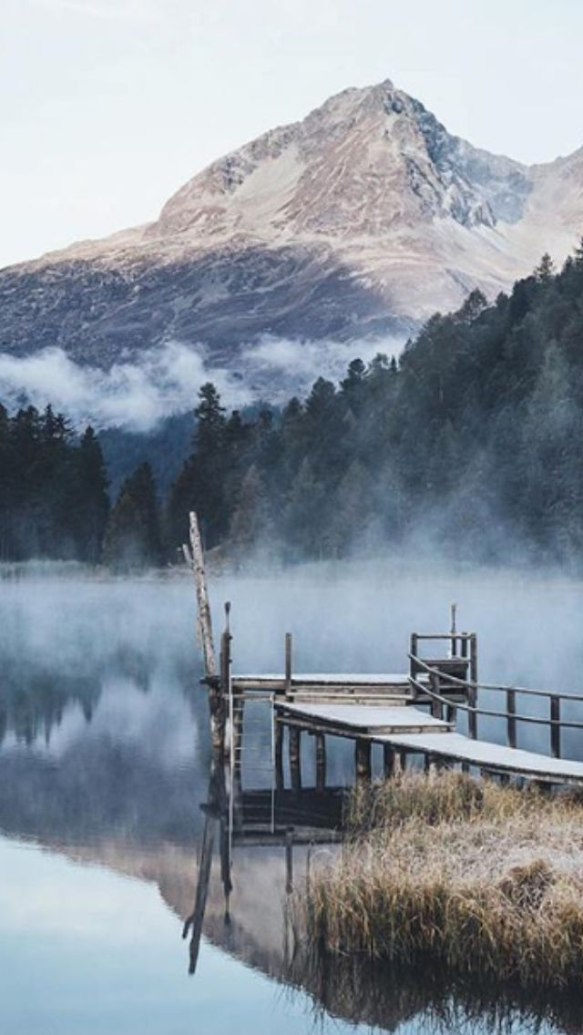 Laj Da Staz (Lake Staz closed to St. Moritz), Engadin GR Switzerland