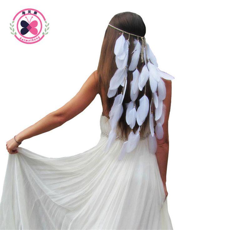 Pas cher Haimeikang Plume Bandeau Femmes Festival Blanc plume de mariée de mariage bandeau Bandeau Coiffe de Cheveux Accessoires de mariage, Acheter  Cheveux Accessoires de qualité directement des fournisseurs de Chine:Haimeikang Plume Bandeau Femmes Festival Blanc plume de mariée de mariage bandeau Bandeau Coiffe de Cheveux Accessoires de mariage