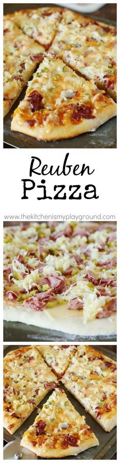 Why didn't I ever think of this! A Reuben Pizza recipe~ enjoy the wonderful flavors of the classic-favorite Reuben sandwich in scrumptious pizza form!