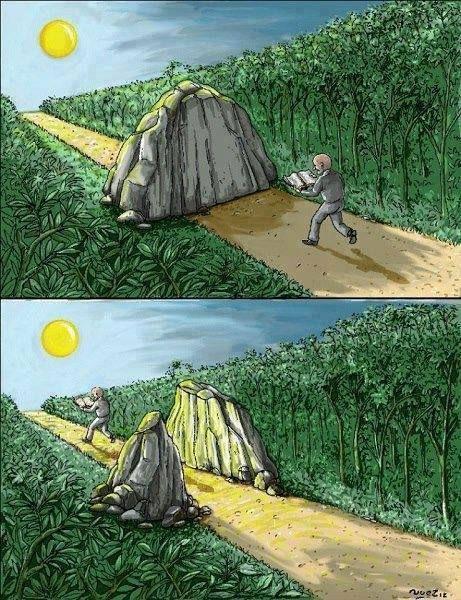 Leyendo no solo puede ayudarte a mover piedras. También a atravesarlas.