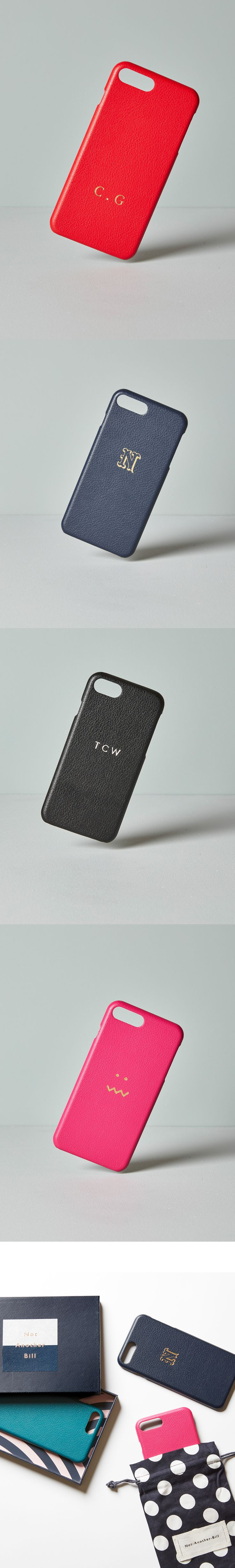 Bespoke & Personalised leather iPhone cases.
