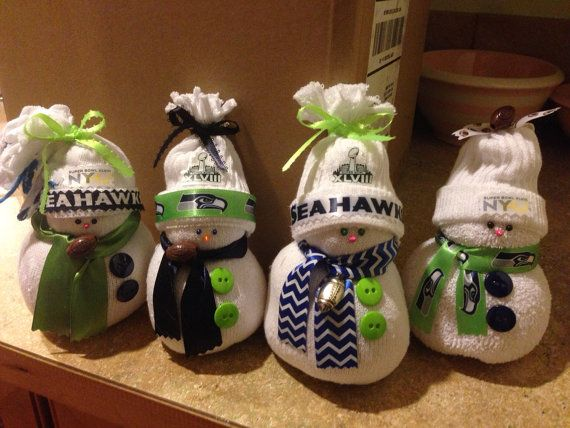 NEW for 2015 Limited Edition Seahawks Super Bowl Snowmen