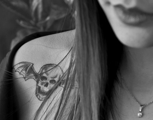 Cute death bat tattoo - Avenged Sevenfold