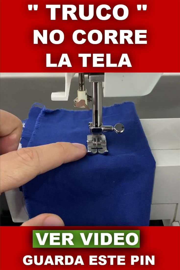 "Mi maquina de coser NO CORRE LA TELA ""TRUCO"" en 2020"