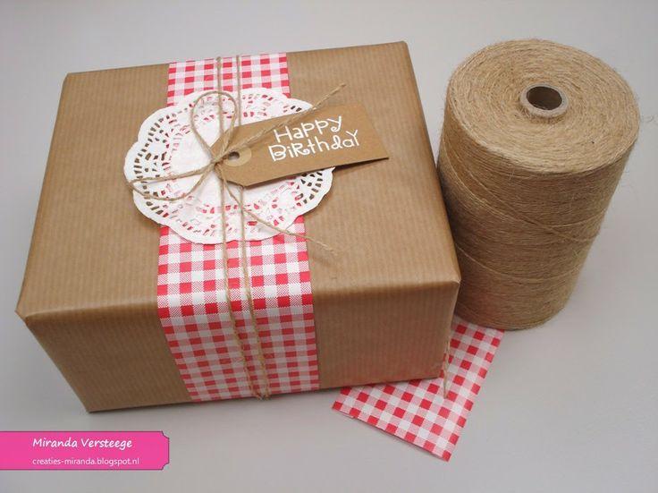 Miranda's Creaties - Cadeautje inpakken