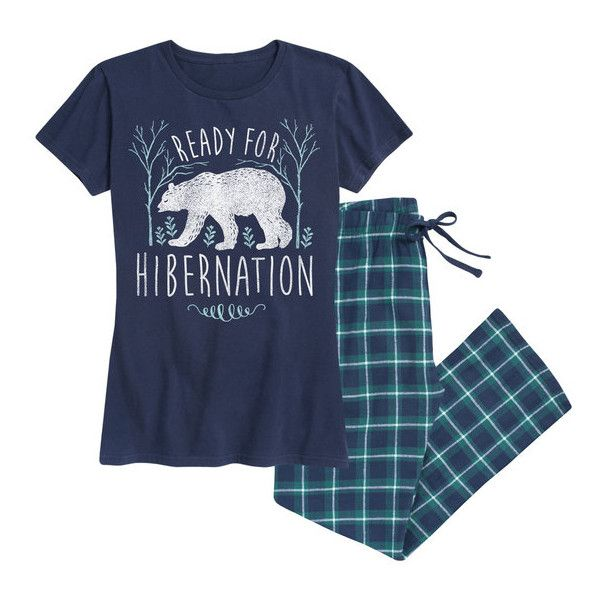 Women's Airwaves LLC Women's Holiday Tee and Flannel Pant Sleep Set... ($30) ❤ liked on Polyvore featuring intimates, sleepwear, pajamas, blue, lounge & sleepwear, holiday pjs, short sleeve pajamas, blue pajamas, flannel pajamas and flannel sleepwear