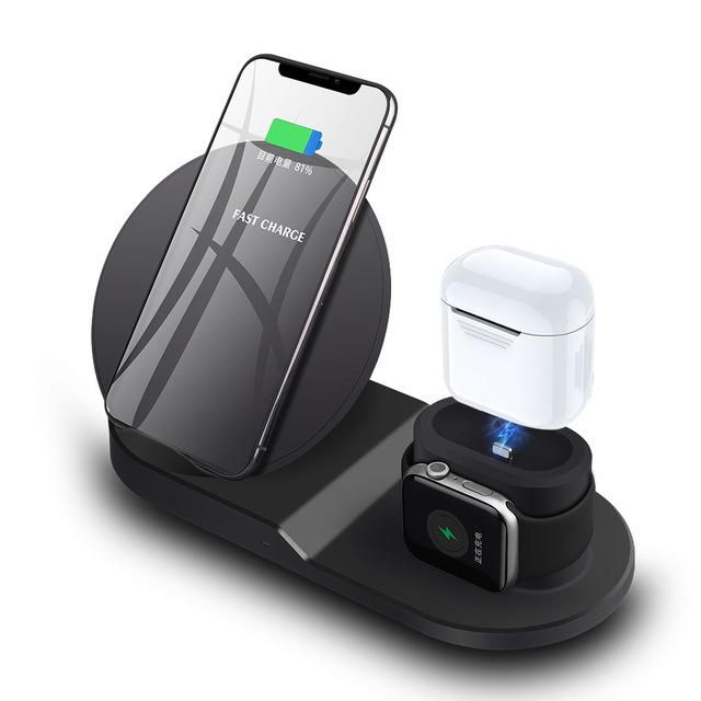 3 in 1 Apple Wireless Qi Charging Station for iPhone, Apple