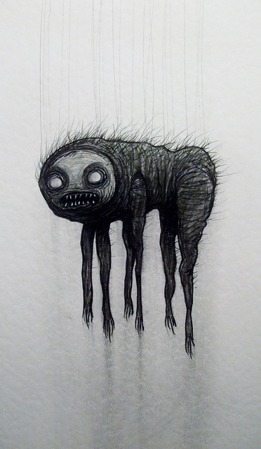 The Talasam, hellish creature from Bulgarian folklore that comes out of dark attics at night to terrorize little children