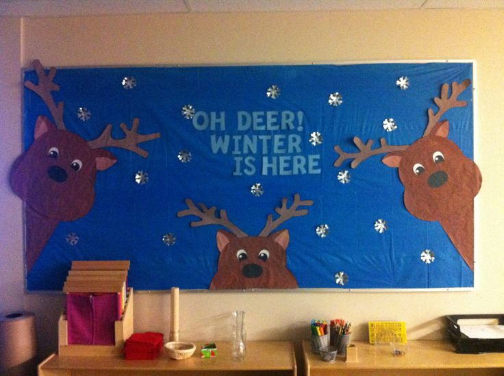 Oh Deer Winter Is Here Education Christmas Bulletin