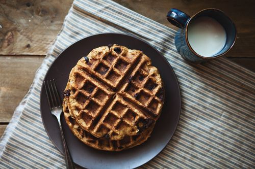 Pumkin Chocolate Chip Waffles: the little red house: little things lately