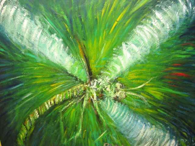 Dragonfly in bright greens.