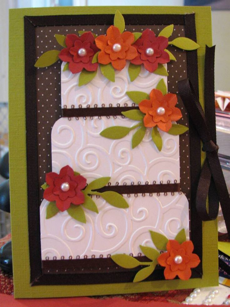 Love the colors with this one -- fairly simple design, easy to change up with different colors.  Kateys Wedding Card
