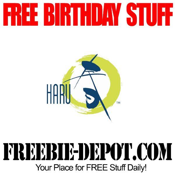 FREE BIRTHDAY STUFF – Haru Sushi - FREE $20 Birthday Certificate