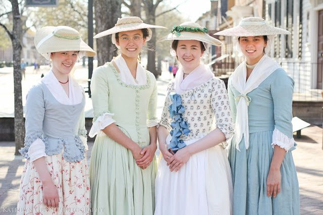 A Lass Of Yesteryear | colonial costume. note the dainty and feminine colors!