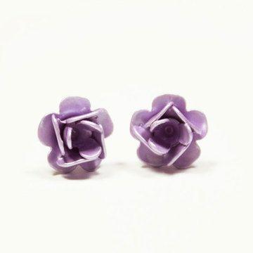 Roses Earrings Lavender: Vintage Lavender, Earrings Lavender, Lavender Roses, Rose Earrings, Roses Earrings, Vintage Earrings, Vintage Roses, Canary Vintage, Blue Canary