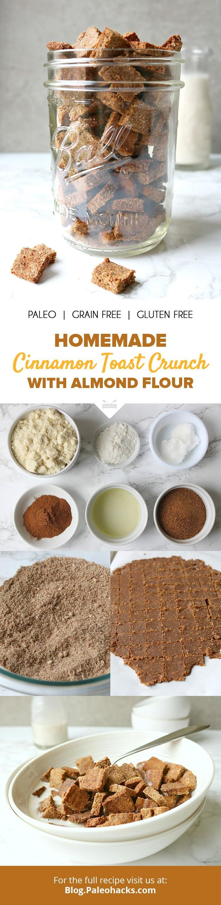 Grab a spoonful of this Cinnamon Toast Crunch cereal that's completely free of refined sugar and wheat! Get the full recipe here: http://paleo.co/cinnamoncrunch
