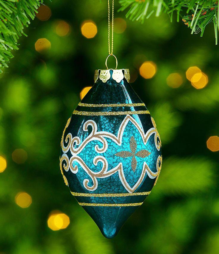 Trimsetter Regal Collection Scroll Mercury Glass Finial Ornament #Dillards