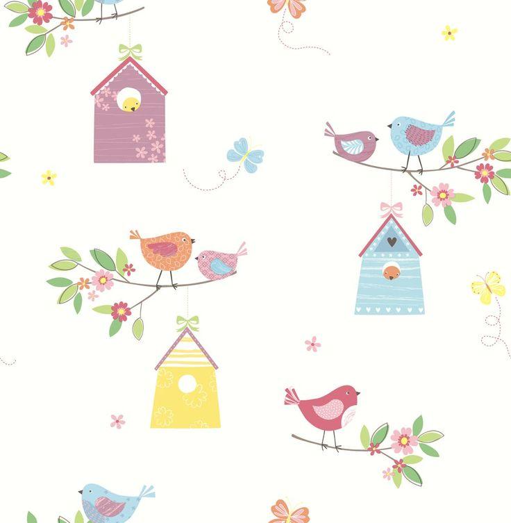 Albany Birdhouses White Wallpaper 20 font